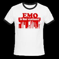 T-Shirts ~ Men's Ringer T-Shirt ~ Emo is for Cutters baseball t-shirt