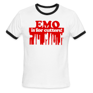 T-Shirts ~ Men's Ringer T-Shirt ~ Emo is for Cutters baseball t-shirt