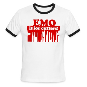 Emo is for Cutters baseball t-shirt - Men's Ringer T-Shirt