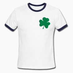 White/navy Cloverleaf T-Shirts