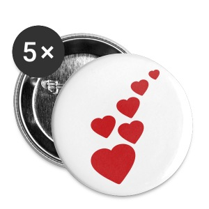 Lovely hearts - Badge petit 25mm