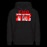Hoodies ~ Men's Hoodie ~ Emo is for Cutters pullover hoodie