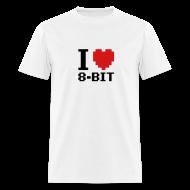 T-Shirts ~ Men's T-Shirt ~ I Love 8-bit