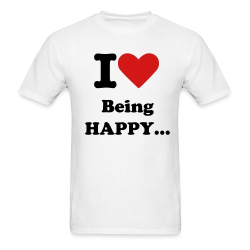 Happy... - Men's T-Shirt
