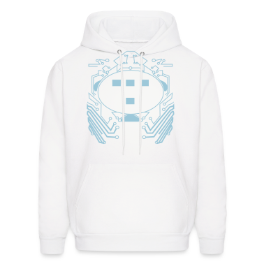 White Retro 80s Tron Flex Print Design Hoodies