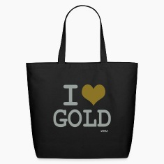 Black i love gold by wam Bags