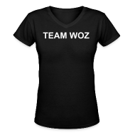 Women's T-Shirts ~ Women's V-Neck T-Shirt ~ Ladies TEAM WOZ V-Neck T-Shirt