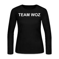 Long Sleeve Shirts ~ Women's Long Sleeve Jersey T-Shirt ~ Ladies TEAM WOZ Long Sleeve T-Shirt