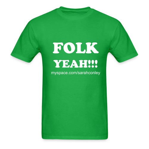 FOLK YEAH!!!!!  Mens    Limited edition Value Ts!!! - Men's T-Shirt