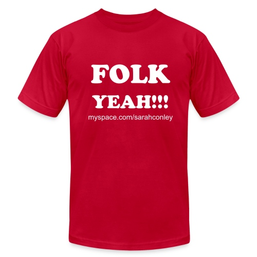 FOLK YEAH!!!!!  Mens     - Men's Fine Jersey T-Shirt