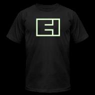 T-Shirts ~ Men's T-Shirt by American Apparel ~ Glow-in-the-Dark Block Logo on Black