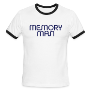T-Shirts ~ Men's Ringer T-Shirt ~ Memory Man: Navy on Sky Blue