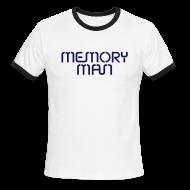 T-Shirts ~ Men's Ringer T-Shirt ~ Memory Man: Navy on Sky Blue