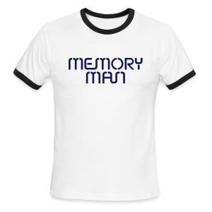 Memory Man: Navy on Sky Blue - Men's Ringer T-Shirt