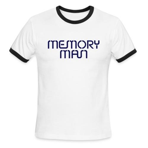 Memory Man: Navy on Sky Blue - Men's Ringer T-Shirt