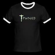 T-Shirts ~ Men's Ringer T-Shirt ~ Pwned Jesus - Glow in the dark