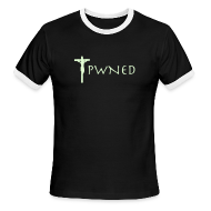 T-Shirts ~ Men's Ringer T-Shirt ~ Pwned Jesus - Glow in the dark