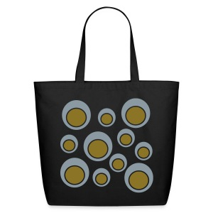 WUBT 'Double Circles With Outline' Eco Tote, Black - Eco-Friendly Cotton Tote