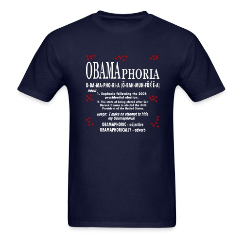 WUBT 'OBAMAphoria-Digital Direct' Men's Standard T-Shirt, Navy - Men's T-Shirt