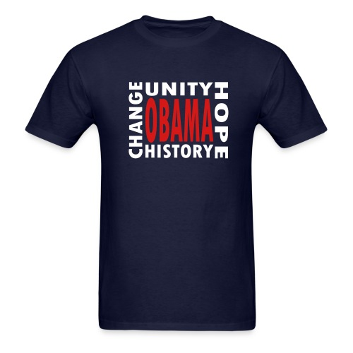 WUBT 'Obama 4 Words' Men's Standard T-Shirt, Navy - Men's T-Shirt