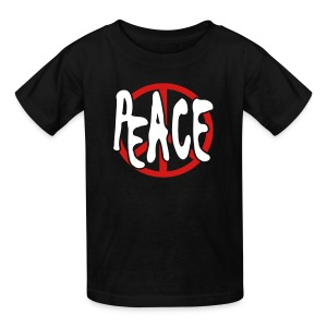 WUBT 'Peace Cutout With Peace Sign' Kids' T-Shirt, Black - Kids' T-Shirt