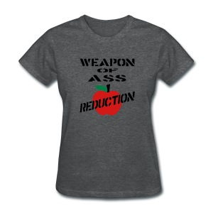 WUBT 'Weapon Of Ass Reduction' Women's Standard T-Shirt, Gray - Women's T-Shirt