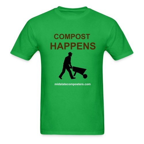 COMPOST HAPPENS T-SHIRT - Men's T-Shirt
