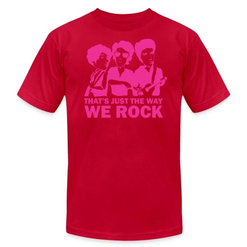 American Apparel That's Just the Way We Rock (Men's - Teal) - Men's Fine Jersey T-Shirt