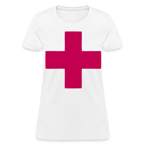 magenta cross - Women's T-Shirt