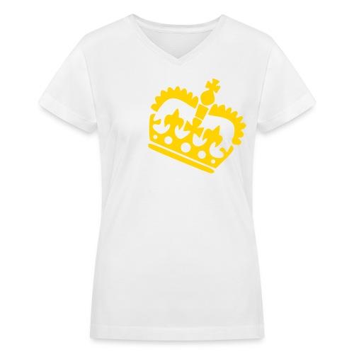 Gold Crown - Women's V-Neck T-Shirt