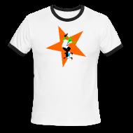 T-Shirts ~ Men's Ringer T-Shirt ~ Alien Skater
