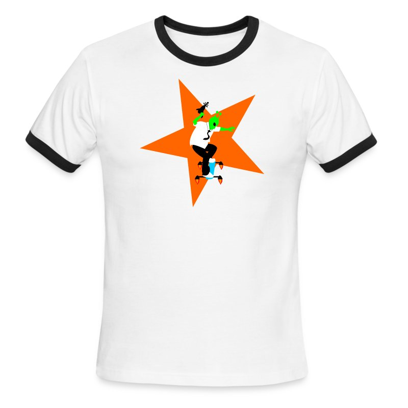 Alien Skater - Men's Ringer T-Shirt
