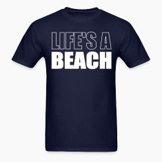 Navy Lifes A Beach T-Shirts