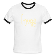 T-Shirts ~ Men's Ringer T-Shirt ~ HOG: Cream on Chocolate