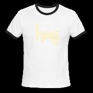 T-Shirts ~ Men's Ringer T-Shirt ~ HOG: Cream on Chocolate