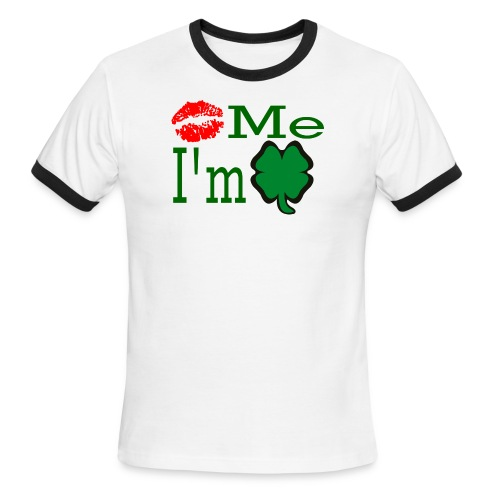 Kiss Me I'm Irish - Men's Ringer T-Shirt