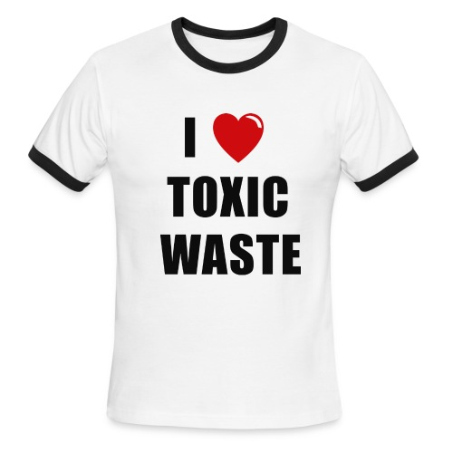 I LOVE TOXIC WASTE REAL GENIUS Movie T-Shirt - Men's Ringer T-Shirt