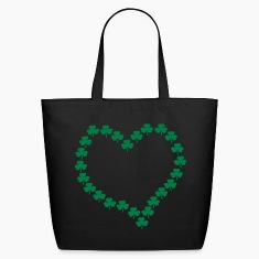 Black Shmrock Heart, Asymmetrical Bags