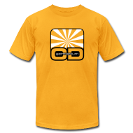 T-Shirts ~ Men's T-Shirt by American Apparel ~ Germanium OD: Black & White on Gold