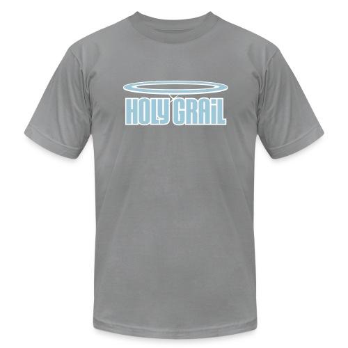 Holy Grail: Light Blue & White on Slate - Men's Fine Jersey T-Shirt