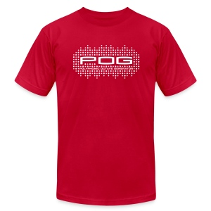 POG: White on Red - Men's T-Shirt by American Apparel