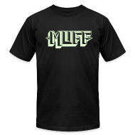 T-Shirts ~ Men's T-Shirt by American Apparel ~ Glow-in-the-Dark Muff on Black