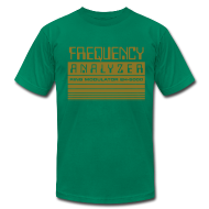 T-Shirts ~ Men's T-Shirt by American Apparel ~ Frequency Analyzer: Metallic Gold on Lemon