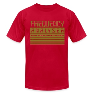 Frequency Analyzer: Metallic Gold on Lemon - Men's T-Shirt by American Apparel