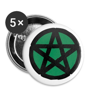 Green Pentacle Button small - Small Buttons