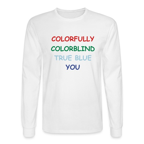 COLORFULLY COLORBLIND - Men's Long Sleeve T-Shirt