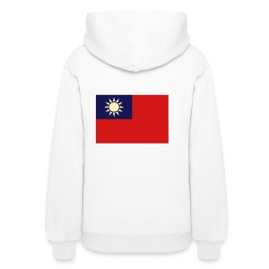 Women's Hoodie - Big ol' flag right on the back.
