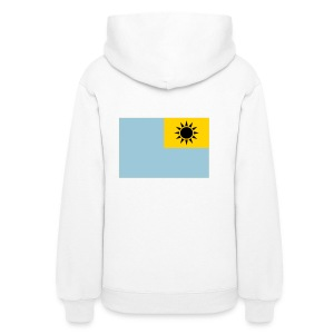Women's Hoodie - Inverted Taiwanese flag on the back of a hoodie. What's it mean? No idea.