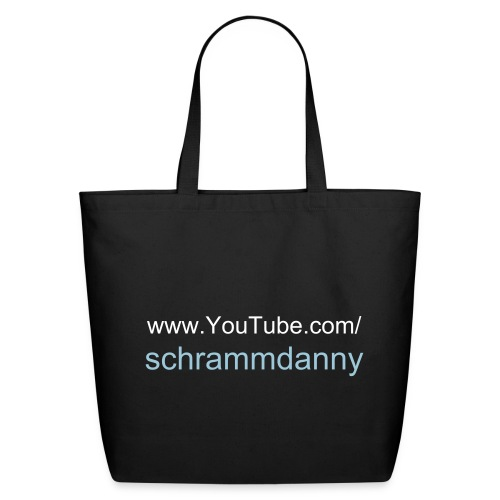 Danny Schramm's YouTube Eco-Friendly Cotton Tote (Black) - Eco-Friendly Cotton Tote