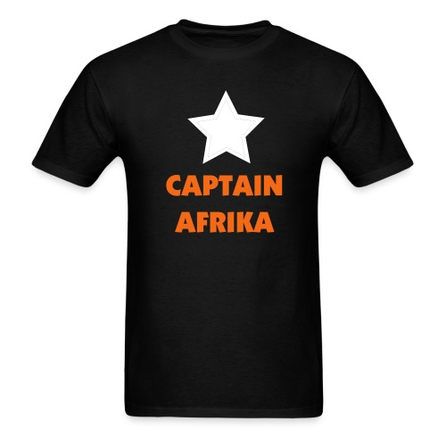 MALIK Fraternity: Captain AfriKa Shirt - Men's T-Shirt